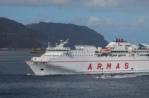 Naviera Armas vuelve a confiar en Europa para conectar sus barcos.