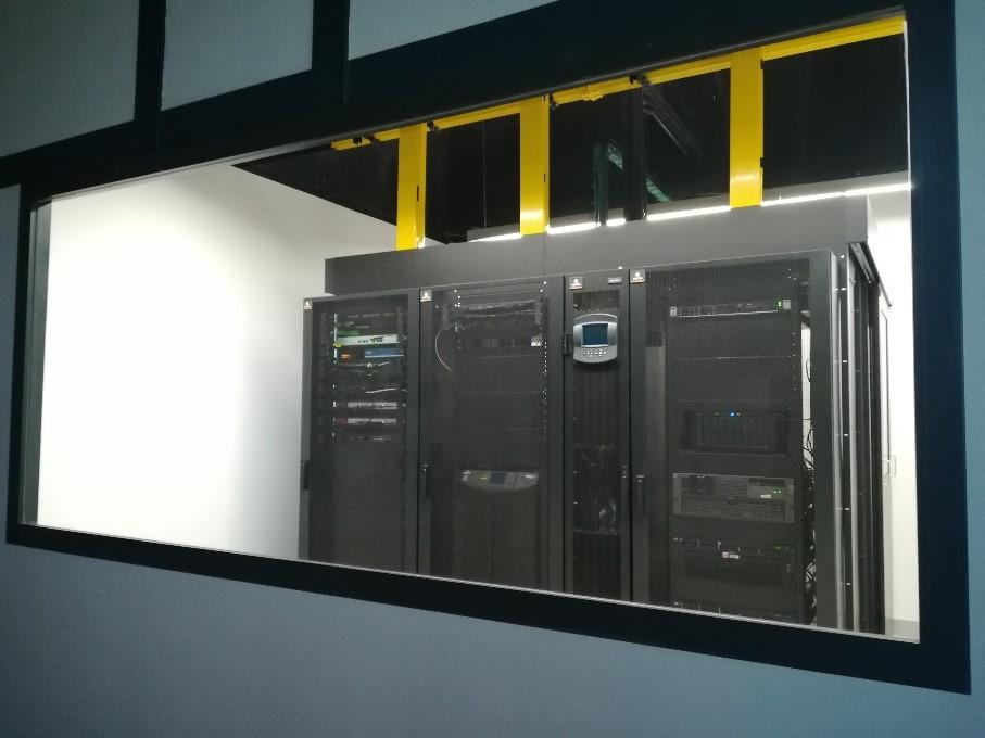 Detalle del nuevo data center de backup en Álava de Berdin Grupo.