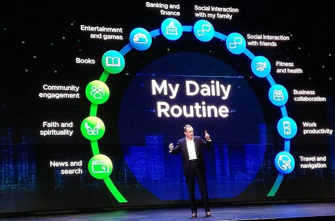 El CEO de VMware, Pat Gelsinger, en su intervención durante el VMworld 2019 que se celebra en Barcelona