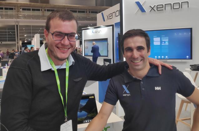 Manel Fabre, de Acer, y Roberto Baptista, de Xenon, en SIMO 2019.
