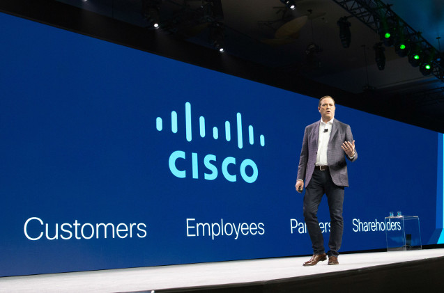 Chuck Robbins, CEO de Cisco, en el Partner Summit 2019 de Las Vegas.
