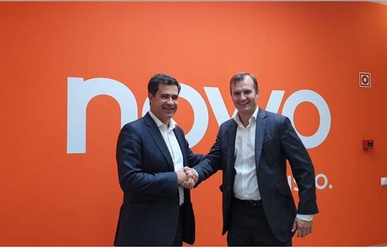 Miguel Venâncio, presidente del Consejo de Administración de NOWO/Oni y Meinrad Spenger, consejero delegado del Grupo MásMóvil..