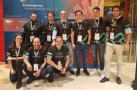 Equipo de IECISA ganador del Global Blockchain Challenge