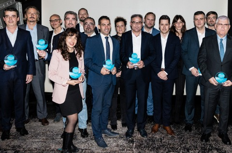 Foto de familia de los premiados por CHANNEL PARTNER en 2019.