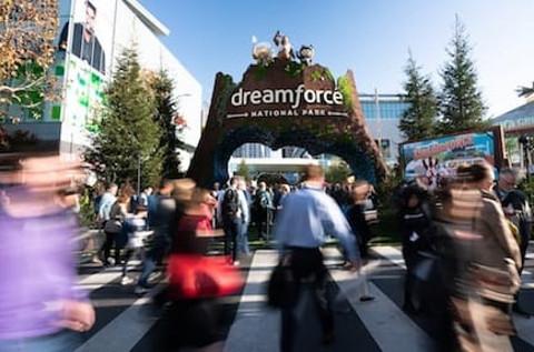 Feria Dreamforce de Salesforce.