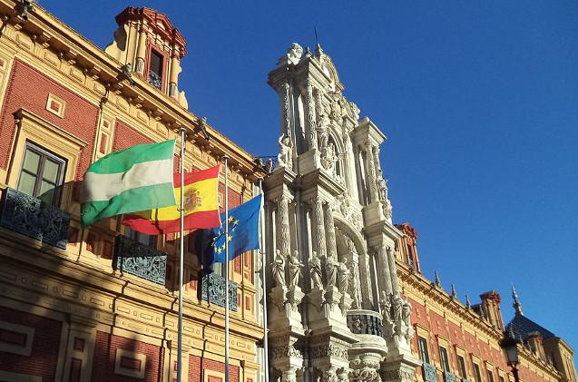Palacio de San Telmo en Sevilla, sede de la Junta de Andalucía.