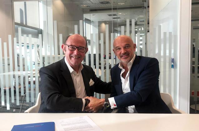 José Aguilaniedo (UST Global) y Miguel Planas (Necsia)
