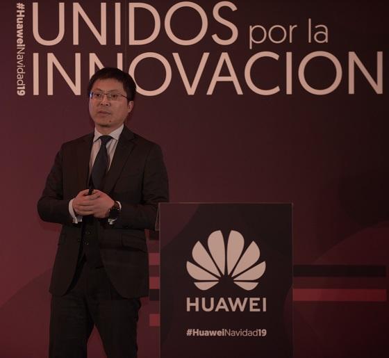 Tony Jin Yong, CEO de Huawei España, durante el almuerzo de Navidad en el Teatro Real de Madrid.