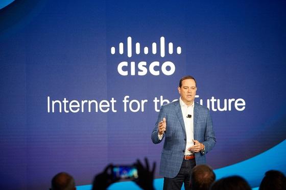 Chuck Robbins durante la presentación de las novedades de Cisco en San Francisco (EE.UU.)