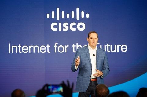 Chuck Robbins durante la presentación de las novedades de Cisco en San Francisco (EE.UU.).