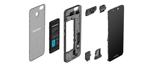 Los materiales de fabricación del Fairphone 3 proceden de fuentes responsables.