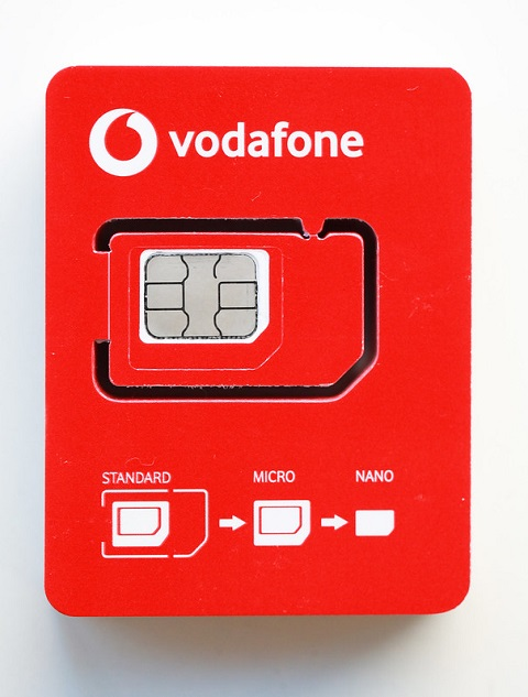 Nueva tarjeta SIM que utilizará Vodafone a partir de marzo de 2020.