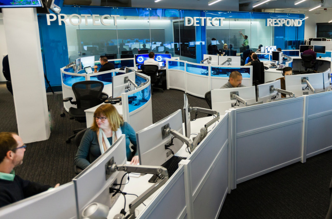 Microsoft Cyber Defense Operations Center.