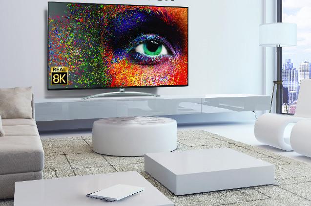 Televisor 8K de LG presentado en el CES 2020.