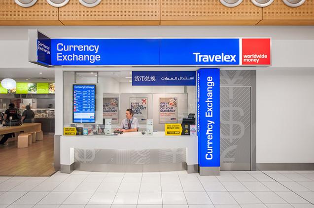 Oficina de cambio de moneda de Travelex.