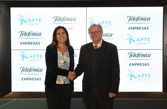 Acuerdo Telefónica y la Asociación de Parques Científicos y Tecnológicos de España (APTE).