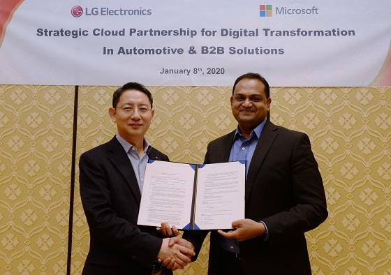 LG y Microsoft crearán nuevos sistemas inteligentes de automóviles