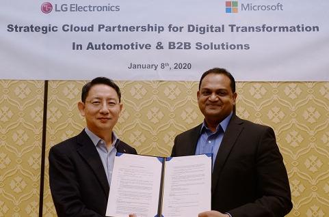 LG y Microsoft crearán nuevos sistemas inteligentes de automóviles.