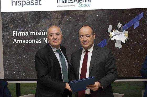 Firma acuerdo Hispasat y Thales Alenia Space para la fabricación del Amazonas Nexus.