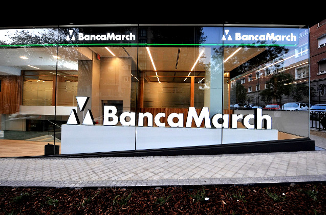 Oficina de Banca March en Madrid.