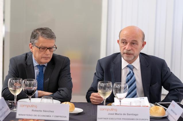 Roberto Sánchez, durante un evento de CIO organizado en Computing en 2018.