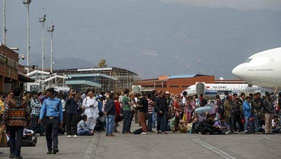 Aeropuerto Internacional Tribhuvan, en Katmandú.