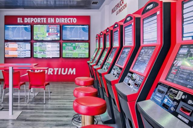 Establecimiento de la casa de apuestas Sportium.