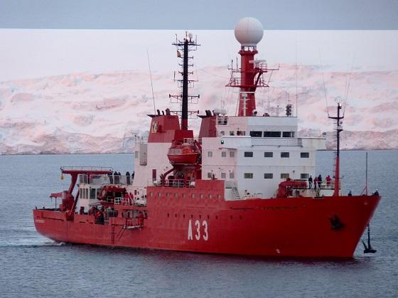 Hespérides, barco experimental de la armada española.