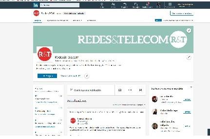 Redes&Telecom abre perfil de LinkedIn.