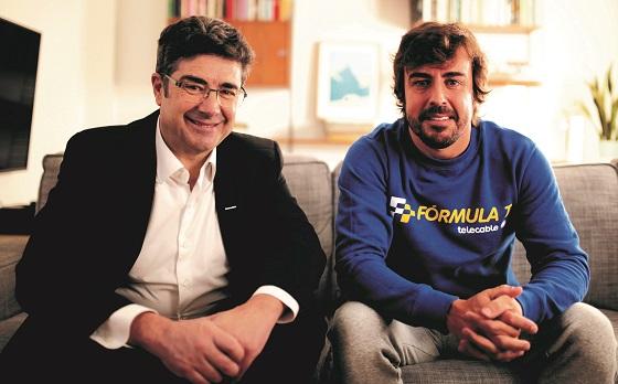 Fernando Alonso, imagen publicitaria de Telecable
