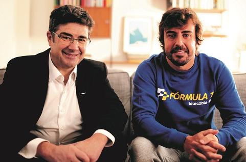 Fernando Alonso, imagen publicitaria de Telecable.