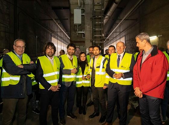 Visita de obras al nuevo tramo conectado con 5G Plaza España-Europa Fira.