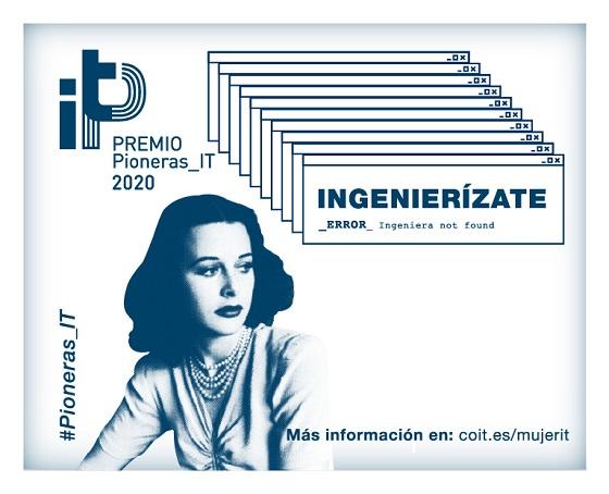 COIT convoca el Premio Pioneras IT