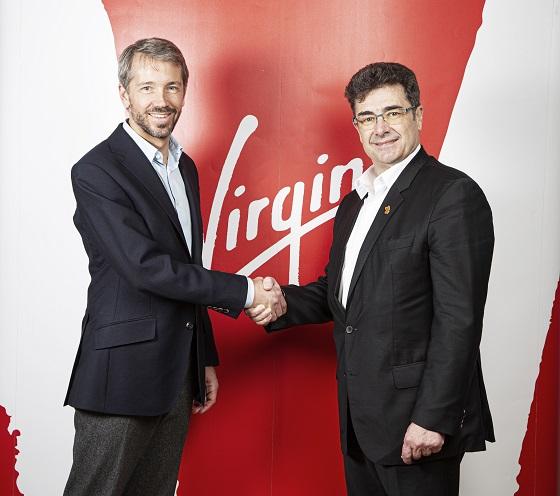 Josh Bayliss, CEO del Grupo Virgin y José Miguel García, CEO del Grupo Euskaltel.