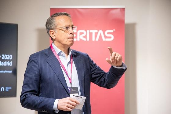 José Manuel Petisco, director general de Veritas para España y Portugal, durante el Vision Solution Day.