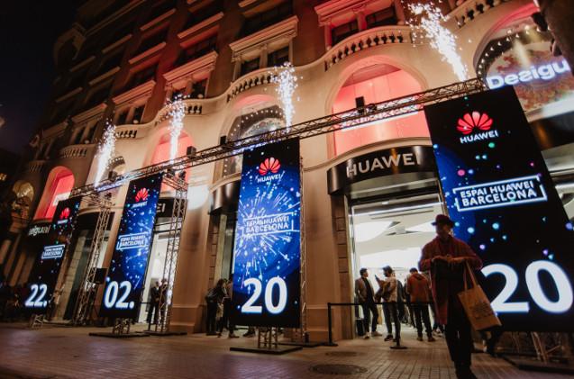 Nueva tienda de Huawei en Barcelona.