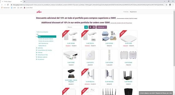 Nueva plataforma de comercio electrónico de Galgus.