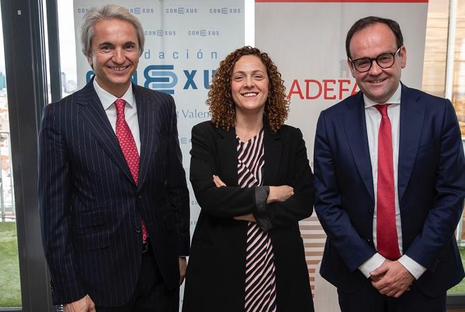 Manuel Broseta, Fundación Conexus; María del Mar López Gil, Departamento de Seguridad Nacional; y Alberto Z. Álvarez, ADEFAM