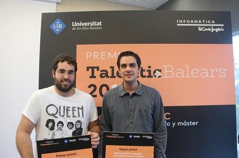 Marc Munar y Sergio Bosch, ganadores de los premios Talentic 2019