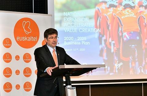 Presentación del nuevo plan de negocio de Euskaltel.