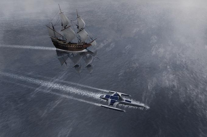 El barco autónomo Mayflower cruzará el Atlántico guiado por la ...