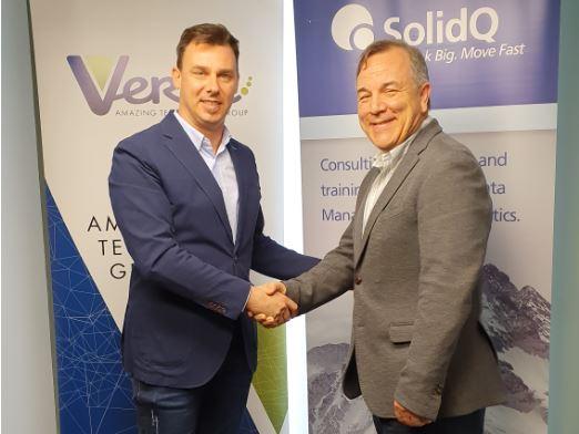 Gianni Cecchin, CEO de Verne Group, y Fernando Guerrero, cofundador y Presidente de SolidQ.