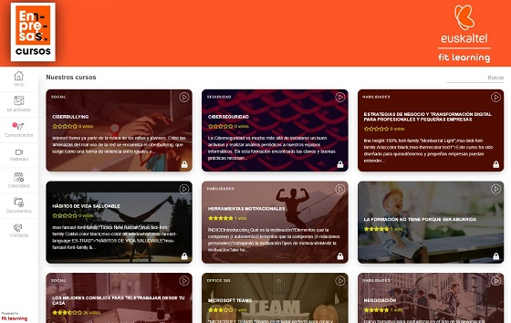 Euskaltel Learning, nueva plataforma de formación digital para empresas.