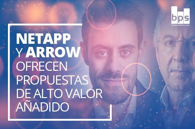 Andrés Reyes, de Arrow, y Francisco Torres-Brizuela, de NetApp