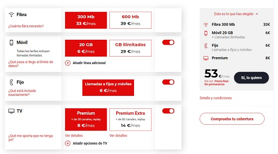 Oferta de Virgin telco.