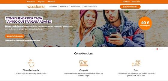 Adamo presenta el programa Conectado Amigos para captar clientes