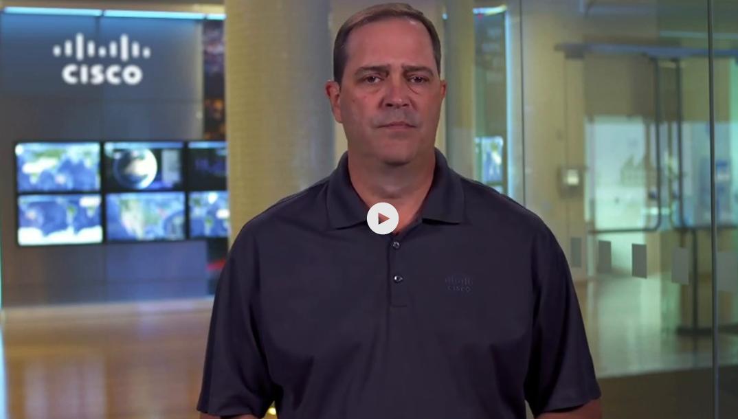 Chuck Robbins, presidente y director ejecutivo de Cisco anunciando el retraso de Cisco Live U.S.