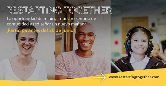 Restarting together, iniciativa para impulsar la recuperación tras Covid-19.