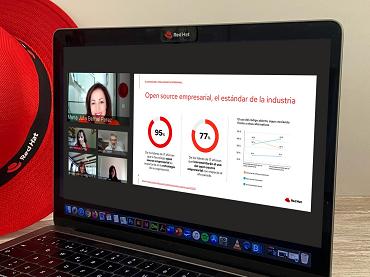 Captura de la rueda de prensa ofrecida por Red Hat España
