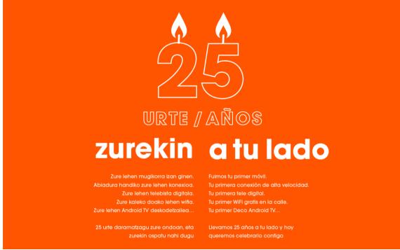 Euskaltel cumple 25 años: de Euskadi al Mundo.